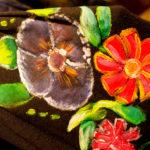 Kwiaty na sukience, malowana tkanina- fot. Anna Serkis